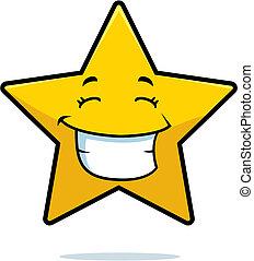 sorrindo, estrela