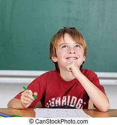 sorrindo, estudante