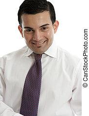 sorrindo, homem negócios, ou, vendedor