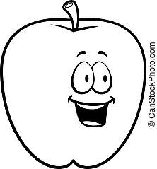 sorrindo, maçã