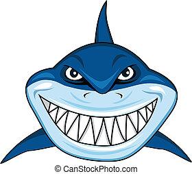 sorrindo, tubarão