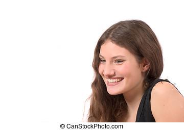 sorrir feliz, adolescente