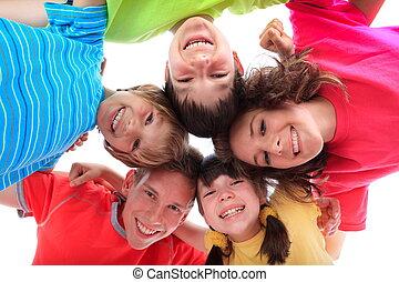 sorrir feliz, crianças