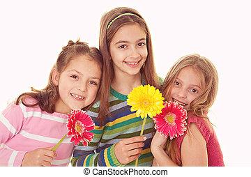 sorrir feliz, irmãs