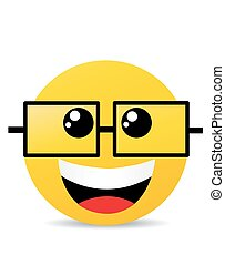 sorriso, moderno, ridere, giallo, felice