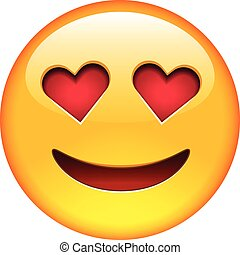 sorrizo, apaixonadas, emoticon