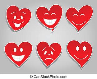 sorrizo, corações