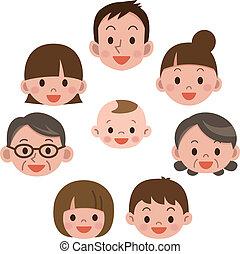 sorrizo, everyone, família, feliz