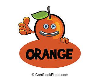 sorrizo, laranja, bandeira