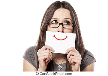 sorrizo, ligado, papel