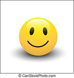sorrizo, vetorial, ícone