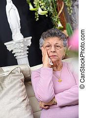 sorrowful lady