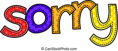 Sorry Doodle Text - A stitch style doodle typeface that says...