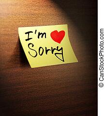 sorry handwritten