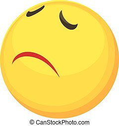 Sorry smiley icon, cartoon style