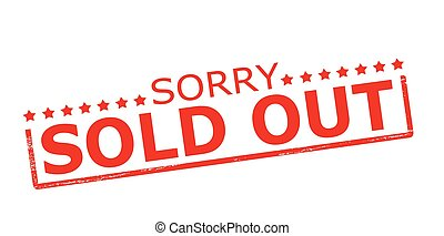 Sorry sold out - Rubber stamp with text sorry sold out...