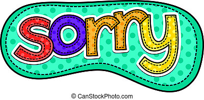 Sorry Stitch Text - A stitch style doodle typeface that says...