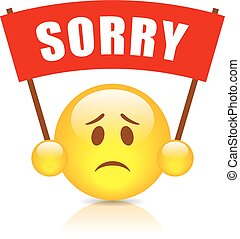 Sorry vector sign