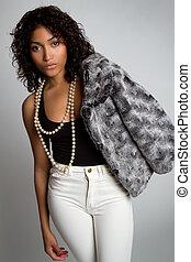 sort kvinde, mode