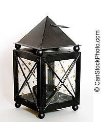 sort, lanterne