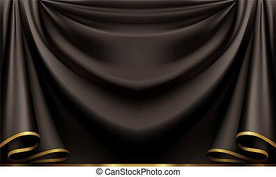 sort, luksus, baggrund