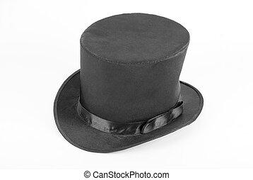 sort magisk, hatt
