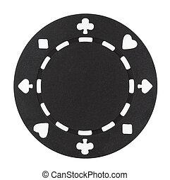 sort, poker skærv
