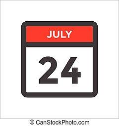 sort, w, kalender, rød, måned, ikon, dag