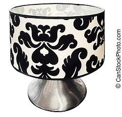 sorte hvide, lampe tabel
