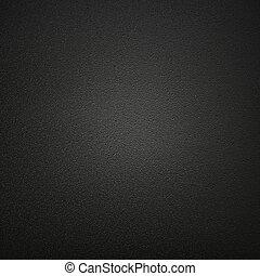 sorte læder, baggrund, eller, tekstur