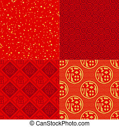 sorte, padrão, bom, chinês, onda