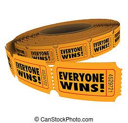 sortear, everyone, gana, winne, fundraiser, extensión, ...