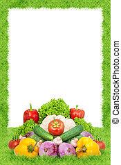 sorteret, friske grønsager