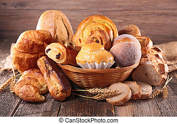sorteret, pastry