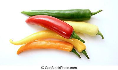 sorteret, peber