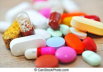 sorteret, pillerne