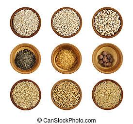 sortering, av, hälsosam, ingrediens