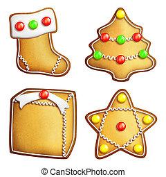 sortido, bolinhos gingerbread