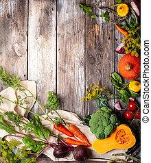 sortido, legumes frescos