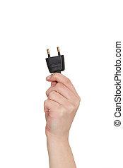 sortie électrique, tenant main