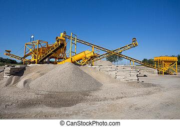 sortierung, pflanze, -, bergbau, industriebereiche