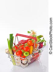 sortimento, de, legumes frescos