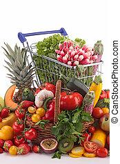 sortimento, legumes, frutas