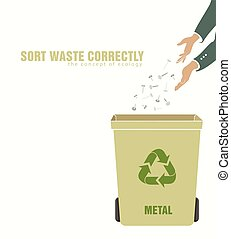 sorting metal, pollution of environment