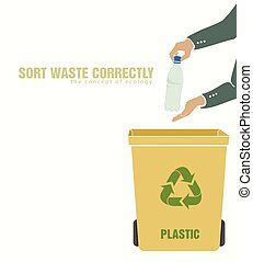 sorting plastic, pollution of environment
