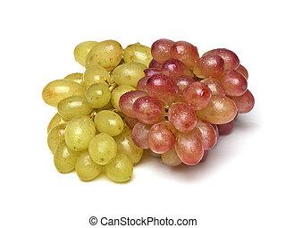 sorts, uvas, lavado, dois, freshly