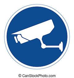 sorveglianza, cctv, segno
