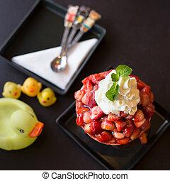 sorvete morango
