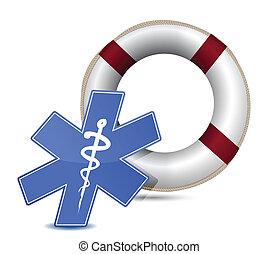 SOS medical wealth illustration
