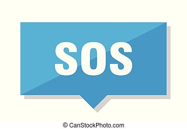 sos price tag - sos blue square price tag